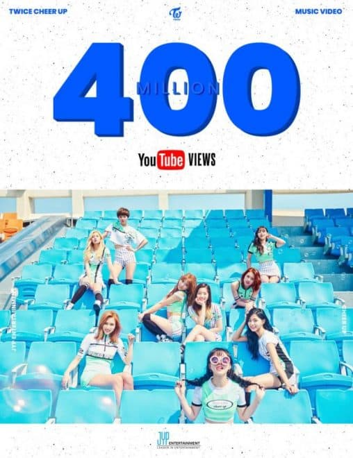 "El video musical ""CHEER UP"" de TWICE registra 400 millones de reproducciones en YouTube"